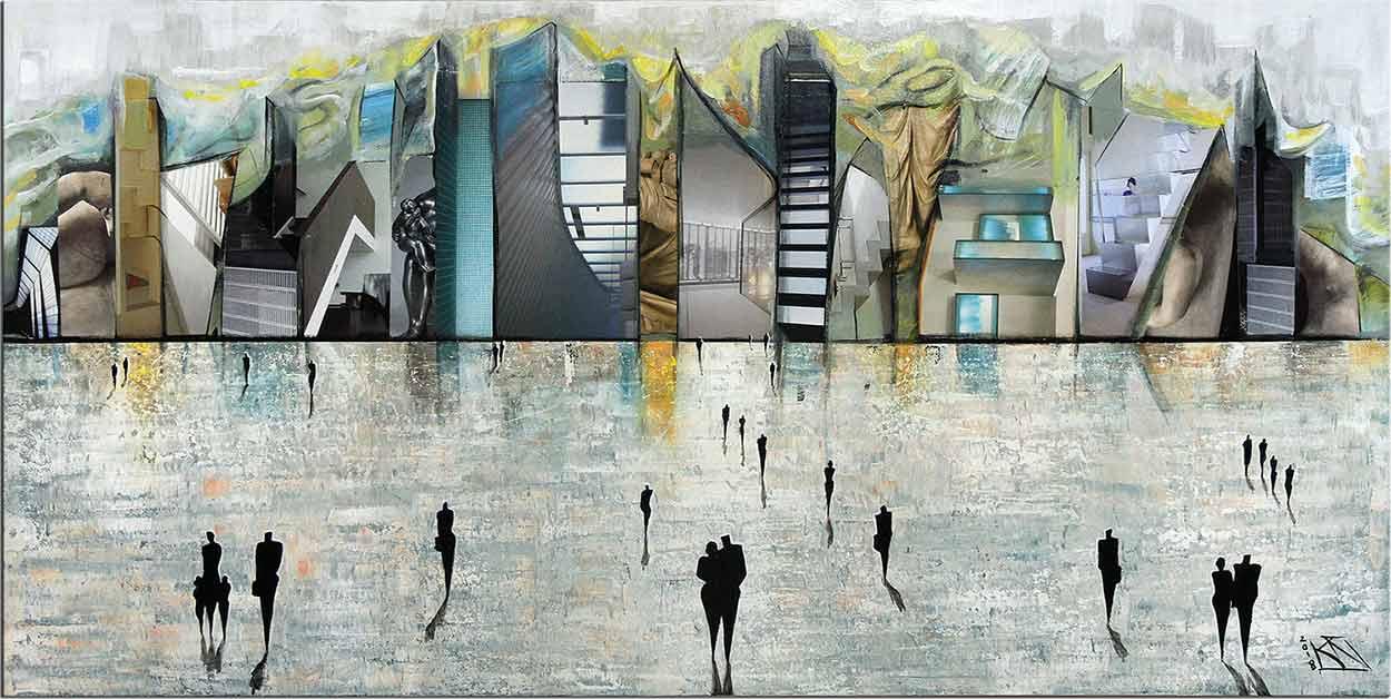 Neoexpressionistische Kunstbilder